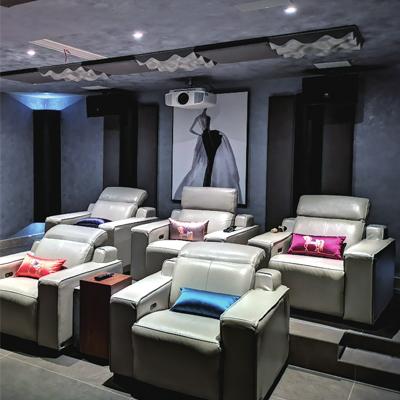 现代简约多功能影音室 高端影音专业私人住宅定制方案